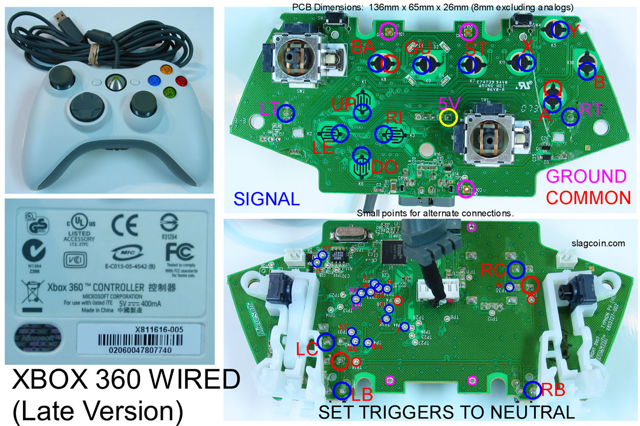Xbox Usb Controller Wiring Diagram | Manual E-Books - Mame Joystick Usb Wiring Diagram