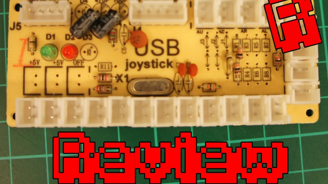 Zero Delay Usb Arcade Encoder | Review & Playtest - Youtube - Usb Joystick Wiring Diagram